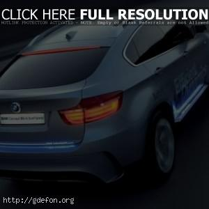 BMW X6 Concept голубого цвета