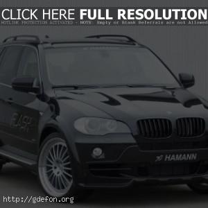 Чёрный BMW Hamann Flash