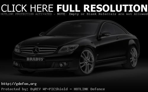 Обои Mercedes-CLK brabus чёрный фото картики заставки