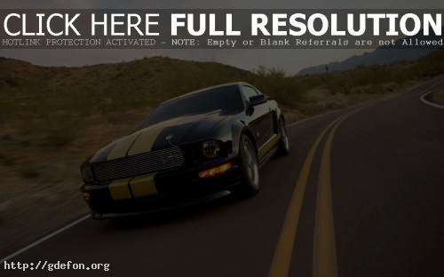 Обои Ford Mustang чёрный фото картики заставки
