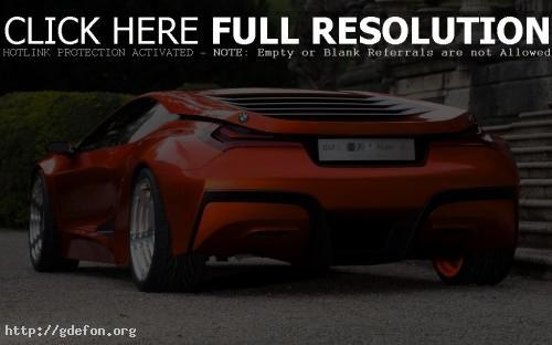 Обои Красный BMW M1 Concept фото картики заставки