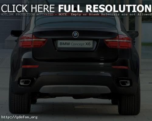 Обои BMW X6 Concept, вид сзади фото картики заставки