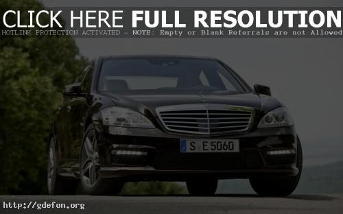 Обои Черный Mercedes Benz s63 фото картики заставки