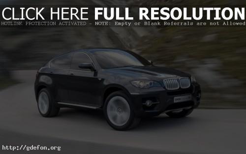 Обои BMW X6 в движении фото картики заставки