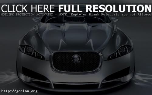 Обои Jaguar C-XF серебристого цвета фото картики заставки