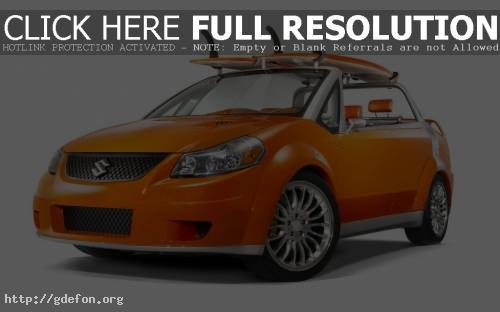 Обои Suzuki Makai Concept оранжевая фото картики заставки
