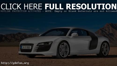 Обои Audi R8 в пустыне фото картики заставки