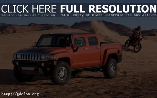 Обои Hummer H3 в пустыне фото картики заставки