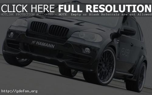 Обои Чёрный BMW Hamann Flash фото картики заставки
