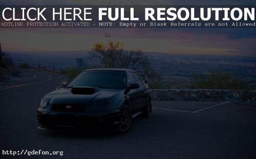 Обои Subaru на дороге фото картики заставки