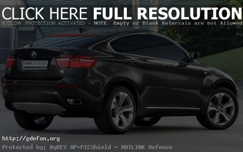 Обои BMW X6 Concept, вид сбоку фото картики заставки