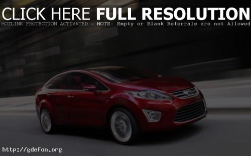 Обои Ford Verve Sedan Concept красный фото картики заставки