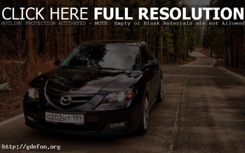 Обои Черная Mazda фото картики заставки