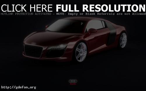 Обои Audi R8 Red фото картики заставки