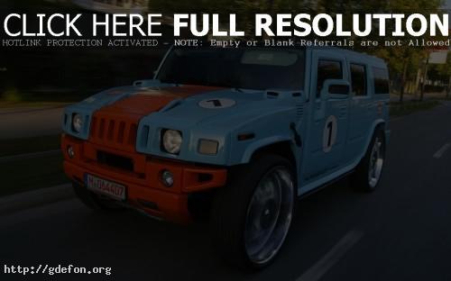 Обои Hummer H2 голубой фото картики заставки