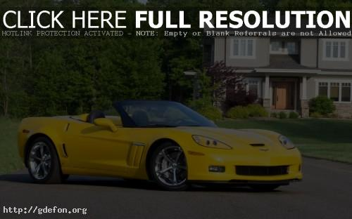 Обои Chevrolet Corvette Grand Sport жёлтый фото картики заставки