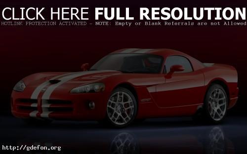 Обои Красный Dodge Viper SRT10 фото картики заставки