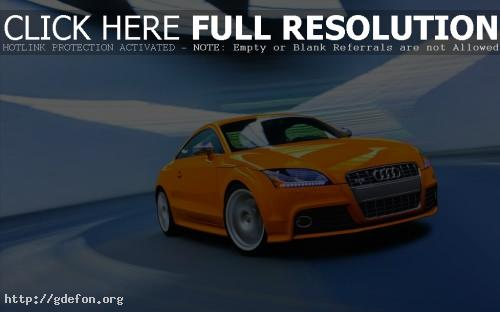 Обои Audi TT-S оранжевый фото картики заставки