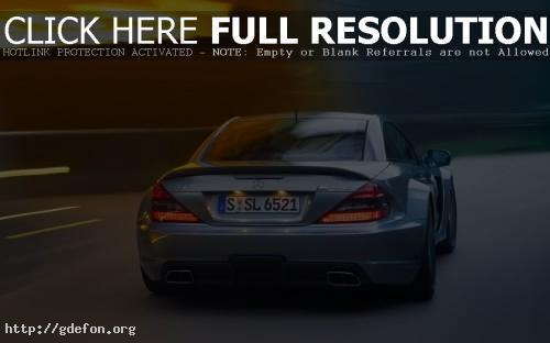 Обои Mercedes SL65 AMG голубого цвета фото картики заставки