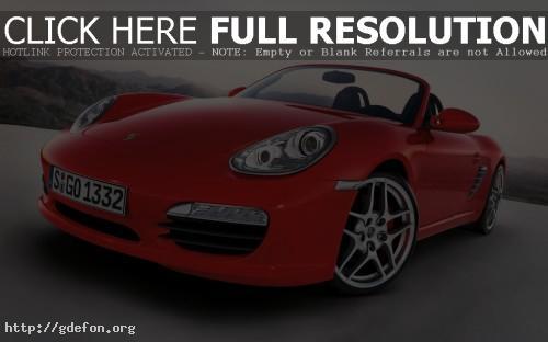 Обои Красный Porsche Boxster S фото картики заставки