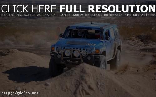 Обои Hummer H3, гонки по бездорожью фото картики заставки