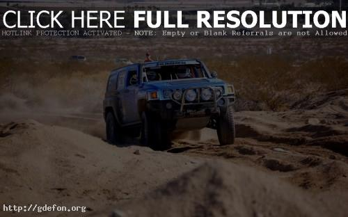 Обои Hummer H3 синий, гонки фото картики заставки