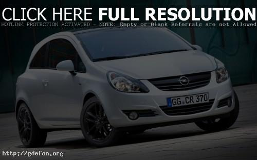 Обои Белый Opel Corsa фото картики заставки