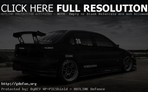 Обои Mitsubishi спортивная чёрная фото картики заставки