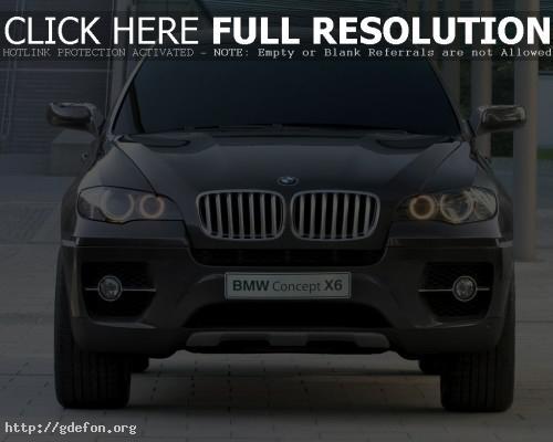 Обои BMW X6 Concept, вид спереди фото картики заставки