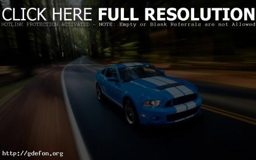 Обои Mustang голубой фото картики заставки