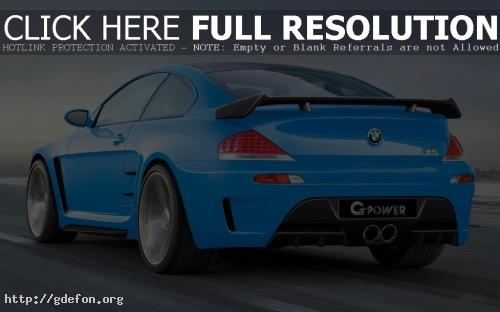 Обои BMW M6 G-power голубой фото картики заставки