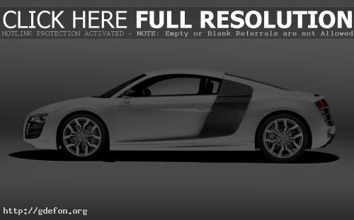 Обои Audi R8 quattro фото картики заставки