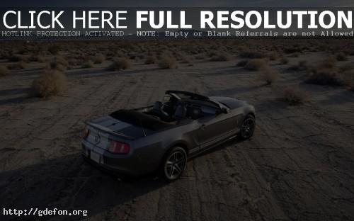 Обои Mustang с открытым верхом фото картики заставки