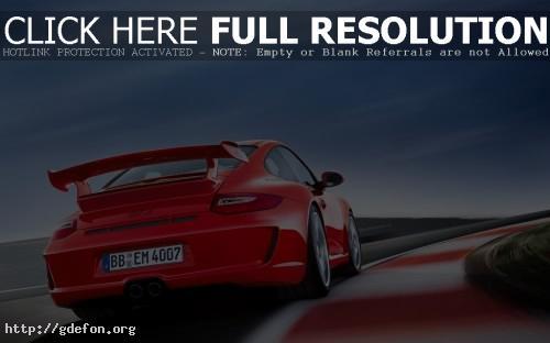Обои Красный Porsche GT3 фото картики заставки