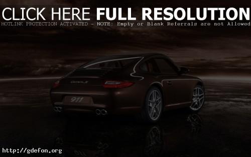 Обои Porsche на берегу фото картики заставки
