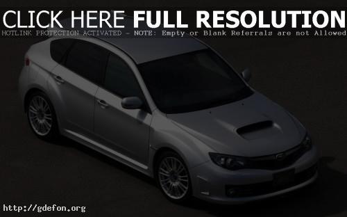 Обои Subaru Impreza WRX STI серебристая фото картики заставки