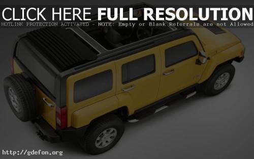Обои Hummer H3 жёлтый фото картики заставки