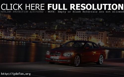 Обои BMW 3 series красный фото картики заставки