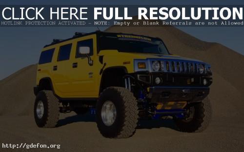 Обои Hummer H2 жёлтый фото картики заставки