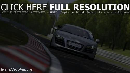 Обои Audi R8 5.2 Quattro фото картики заставки