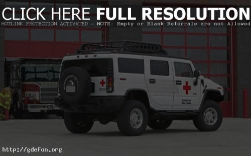 Обои Белый Hummer H2 фото картики заставки