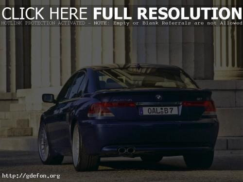 Обои BMW 7 series, синий фото картики заставки
