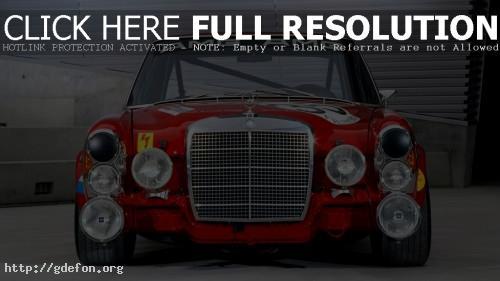 Обои AMG Mercedes 300SEL 6.3 Race Car фото картики заставки