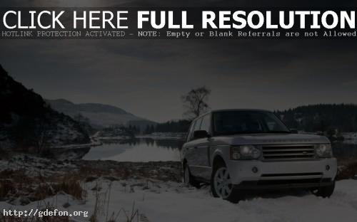 Обои Land Rover на снегу фото картики заставки