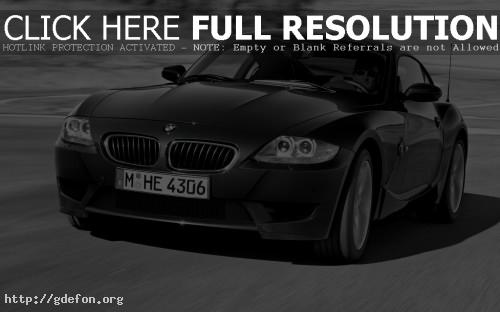 Обои BMW Z4 M Coupe Чёрный фото картики заставки