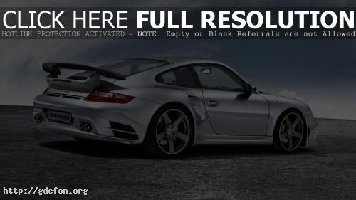 Обои Серебристый Porsche фото картики заставки