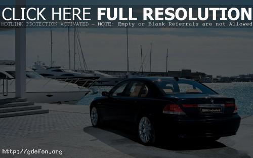 Обои BMW 7-secure на причале фото картики заставки
