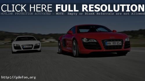 Обои Audi красная и белая фото картики заставки