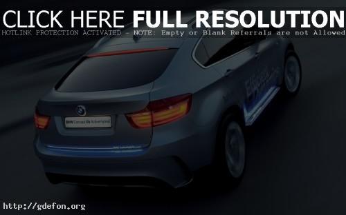 Обои BMW X6 Concept голубого цвета фото картики заставки