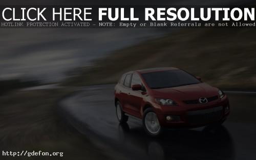 Обои Красная Mazda CX-9 фото картики заставки